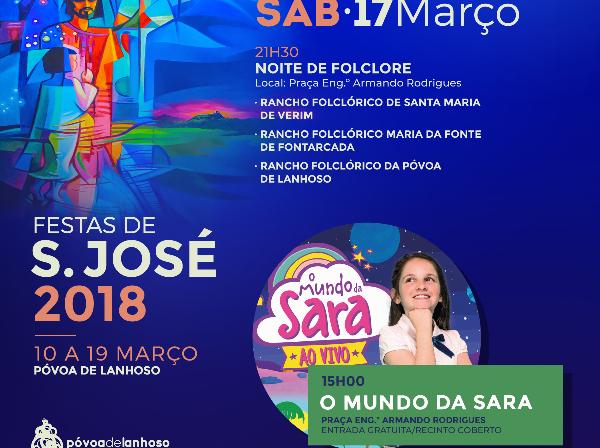 O Mundo da Sara chega sábado à Póvoa de Lanhoso para um espetáculo com entrada gratuita