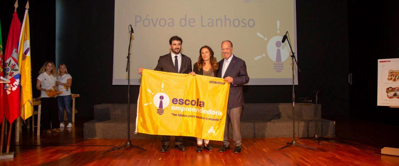 Póvoa de Lanhoso recebeu bandeira empreendedora do projeto Ter Ideias para Mudar o Mundo