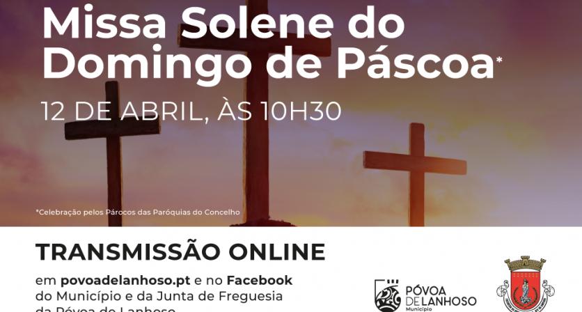 Missa Solene do domingo de Páscoa - Transmissão ONLINE