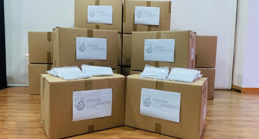 COVID-19: Câmara Municipal da Póvoa de Lanhoso distribui 32 mil máscaras pela população